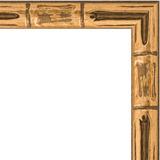 "Зеркало в багетной раме ""Золото бамбук"""