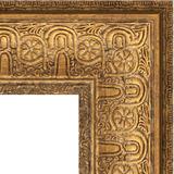 """Зеркало с гравировкой в багетной раме """"Медный эльдорадо"""""""