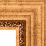 """Зеркало с гравировкой в багетной раме """"Римское золото"""""""