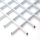 Потолок Грильято Cesal 3306 Белый матовый (100х100 мм)