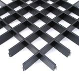 Потолок Грильято Cesal 3305 Черный (75х75 мм)