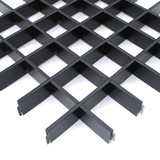 Потолок Грильято Cesal 3305 Черный (150х150 мм)
