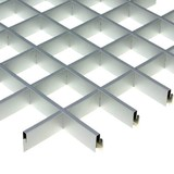 Потолок Грильято Cesal 3313 Металлик (75х75 мм)