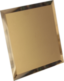 Зеркальная плитка квадратная с фацетом 10 мм (бронза/бронза матовая)