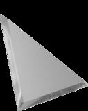Зеркальная плитка треугольная с фацетом 10 мм (серебро/серебро матовое)